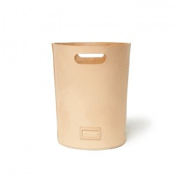 Cow Leather Wastebasket