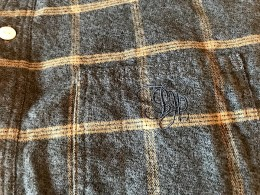 The Stylist Japan - Shawl Collar Flannel Check SHT -Blue