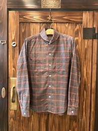 Shawl Collar Flannel Check SHT -Gray