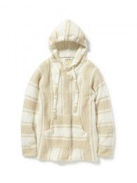 nonnative - Stroller Hooded Pullover W/A Yarn Mohair Stripe