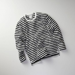 CURLY - Bright LS Border Tee