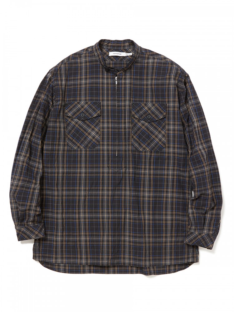 nonnative - Worker Pullover Shirt Cotton Typewriter Plaid