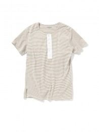 Dweller Henley Neck SS Cotton Border Jersey