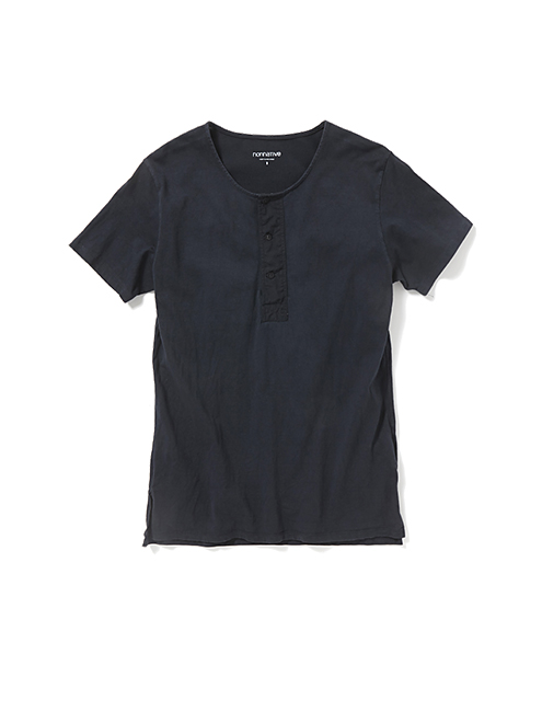 nonnative - Dweller Henley Neck SS Cotton Jersey OD