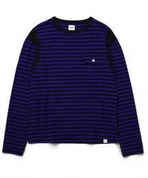 "BEDWIN - L/S C-Neck Border T ""EARNIE"""