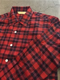 The Stylist Japan - T/C Check Open Collor SHT- RED