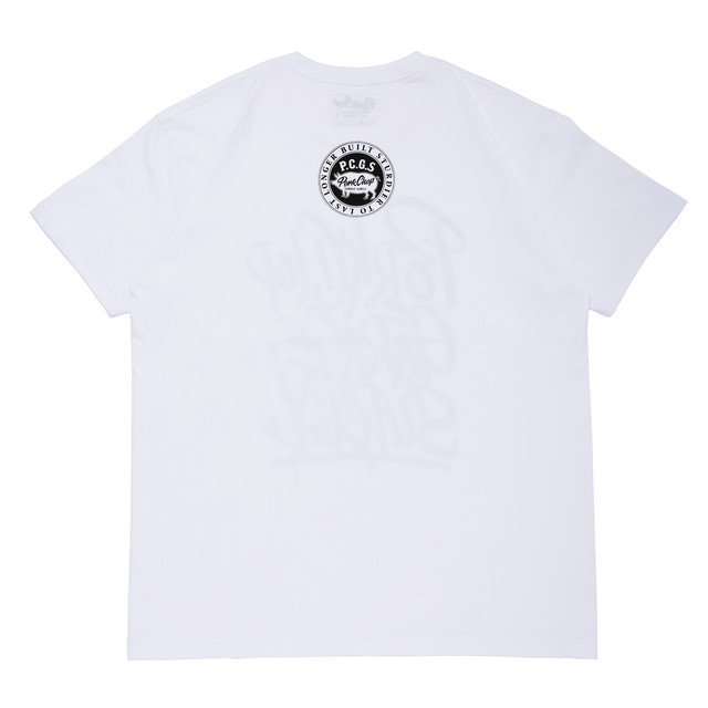 PORKCHOP GARAGE SUPPLY - Brush TEE / WHITE