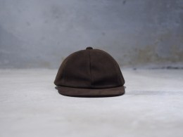 Sheep Suede Cap (Dark Brown)
