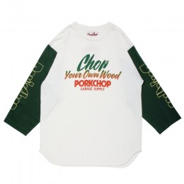 Chop Your Own Wood Baseball TEE / WHITE x D GREEN