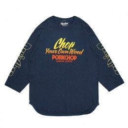 Chop Your Own Wood Baseball TEE / INDIGO BLUE