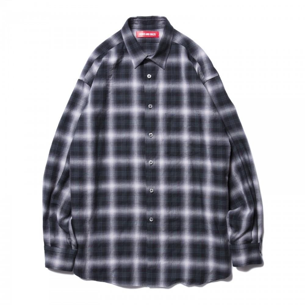 BONES & BOLTS - O.D L/S Shirt Ombre Check