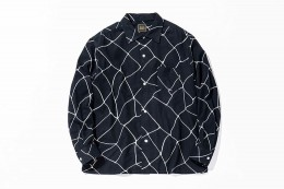 Spiderweb Print Flannel Shirt