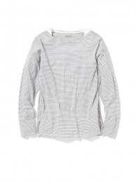 nonnative - Dweller Boat Neck LS Cotton Border Jersey