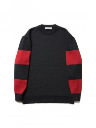 Sleeve Border Knit Sweater