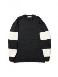 COOTIE - Sleeve Border Knit Sweater