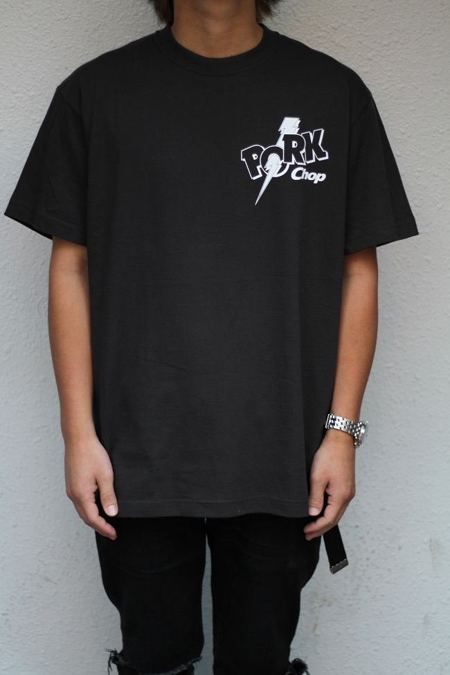PORKCHOP GARAGE SUPPLY - Jolt Pork - BACK TEE / BLACK