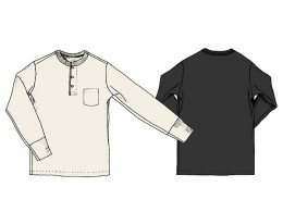 Henry Pocket L/S T-Shirts