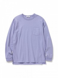 Dweller L/S Tee Cotton Jersey Overdyed