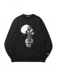 Print Crewneck L/S Sweatshirt (KEEP SMILING)