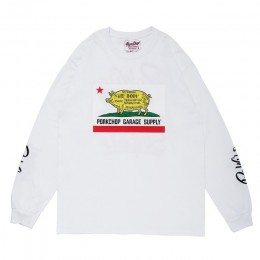 Pork CALIF L/S TEE / WHITE