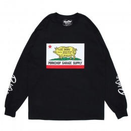 Pork CALIF L/S TEE / BLACK