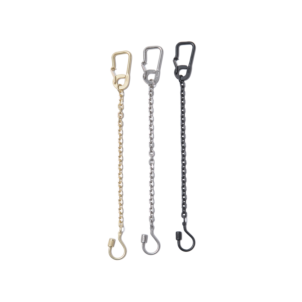 hobo - Brass Carabiner Key Ring with Chain