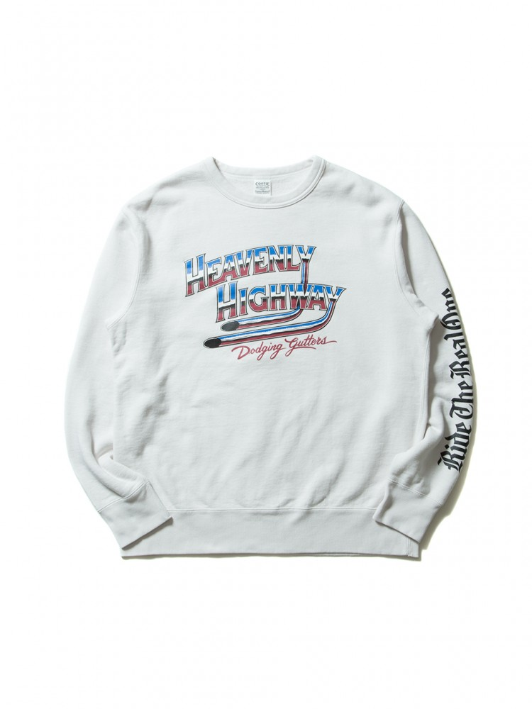 COOTIE - Print Crewneck L/S Sweatshirt (HEAVENLY HIGHWAY)