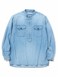 Worker Pullover Shirt Relaxed Fit Cotton 8oz Denim