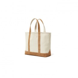 hobo - Cotton Canvas Tote Bag M with Cow Suede