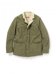 "Farmer Boa Jacket CottonArmyClothwith ""WINDSTOPPER"