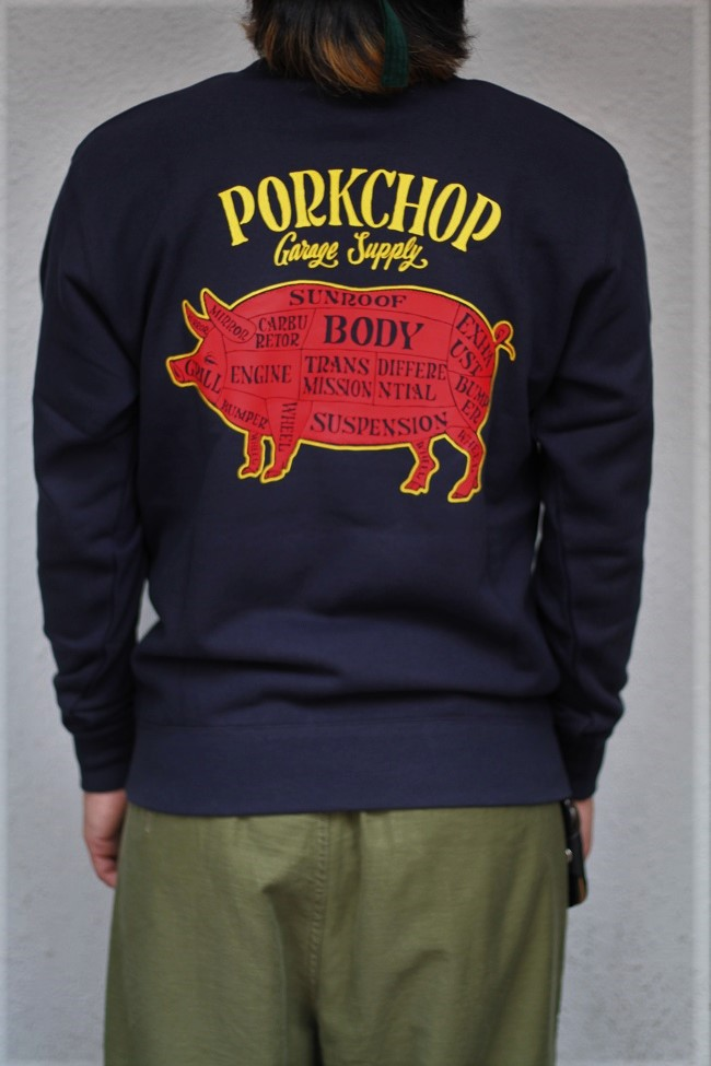 PORKCHOP GARAGE SUPPLY - Pork Back Sweat / NAVY