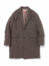 nonnative - Officer Coat Wool Glen Plaid with WINDSTOPPER 2L