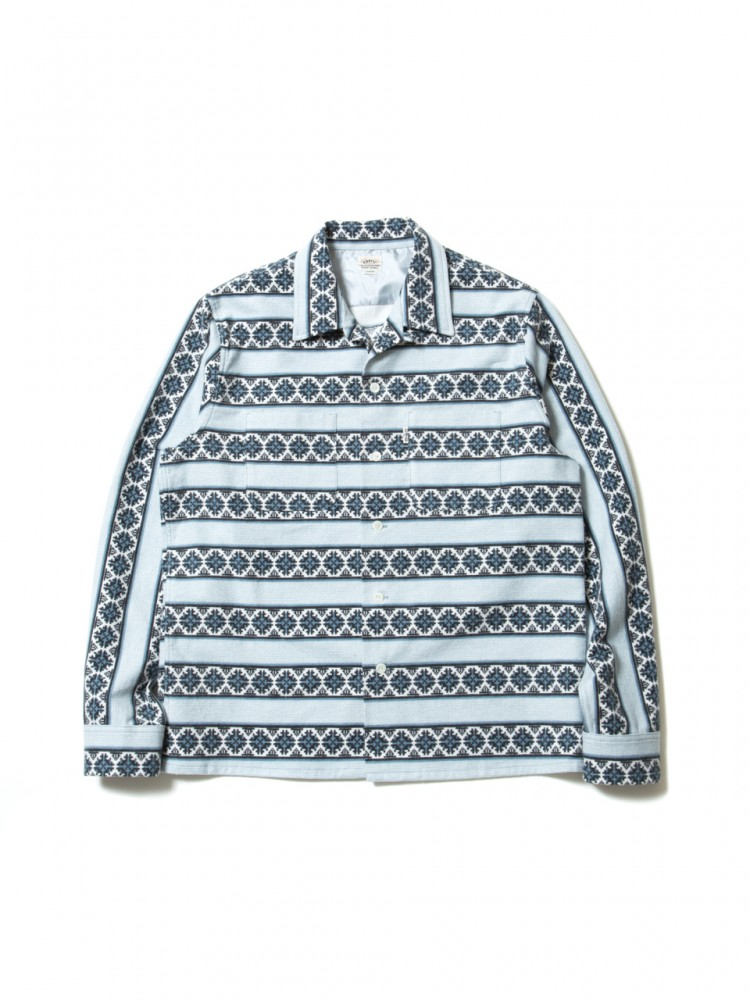 COOTIE - Geometric Printed Flannel L/S Work Shirt