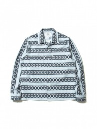 Geometric Printed Flannel L/S Work Shirt