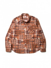 Patchwork Printed Flannel L/S Work Shirt