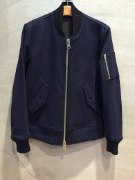 Indigo Melton Wool MA-1 Jacket