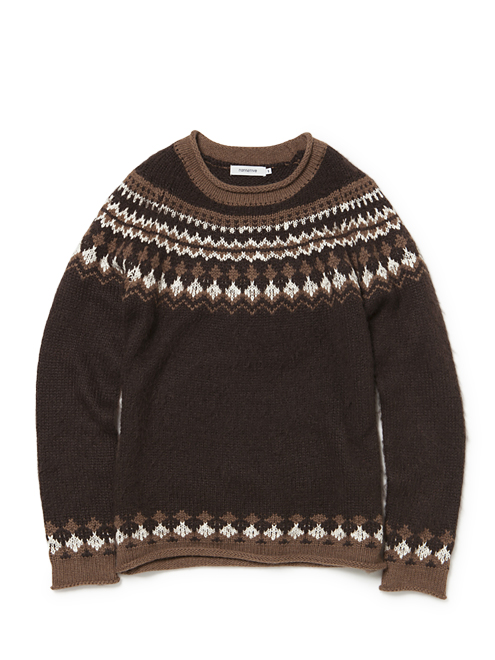 nonnative - Labourer Sweater - Mohair Wool Fair Isle