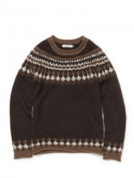 Labourer Sweater - Mohair Wool Fair Isle