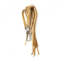 Cow Leather Tassel Key Ring