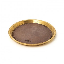 Brass Tray Small with Oiled Cow Leather