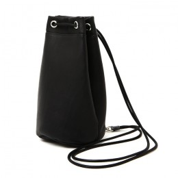 Cow Leather Drawstring Bag