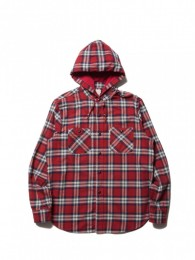 Flannel Check L/S Hooded Shirt