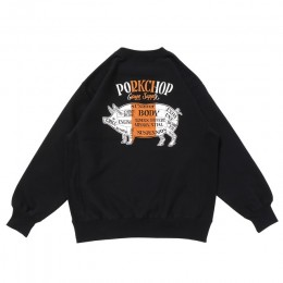 Pork Back Sweat / BLACK × ORANGE