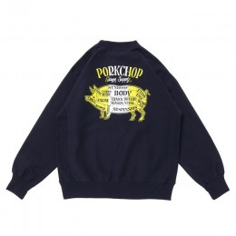 Pork Back Sweat / NAVY × WHITE