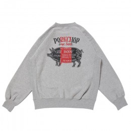 Pork Back Sweat / GRAY × RED