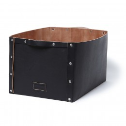 Cow Leather Storage Box L