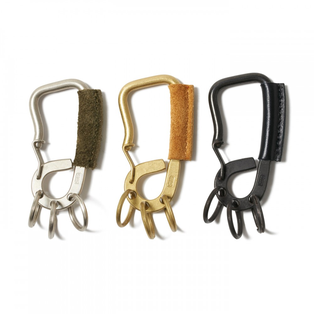 hobo - Brass Carabiner with Cow Leather