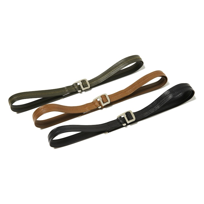 hobo - Cow Leather Belt with Brass Buckle