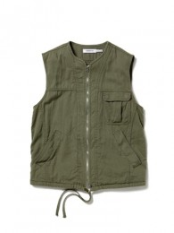 Driver Vest - Cotton Chino Cloth Vegetable Dyed