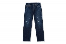 NEO Straight Crash Denim Pants Used Paint
